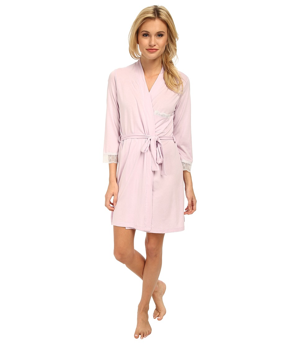 Cosabella - Perugia 3/4 Sleeve Robe (Petal/Ivory) Women's Robe