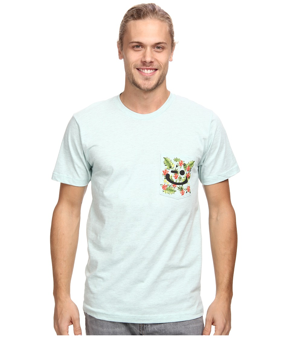 Delivering Happiness - Pocket Winkey Tee (Seafoam) Men's Short Sleeve Pullover