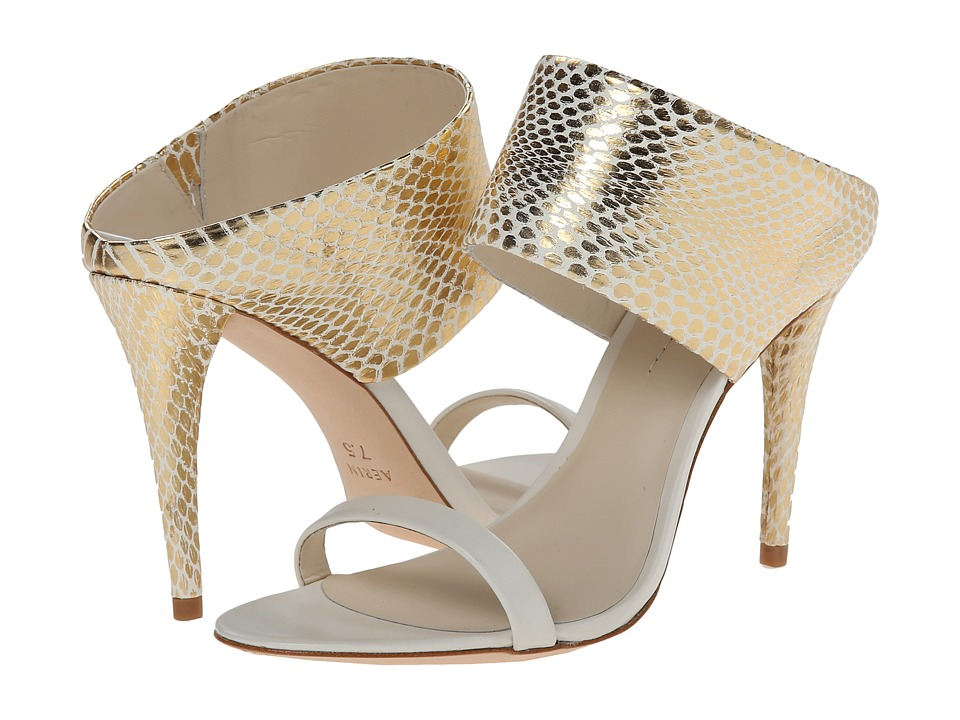 Aerin - Larissa (Gold/Ivory/White Washed Snake/Calf) High Heels