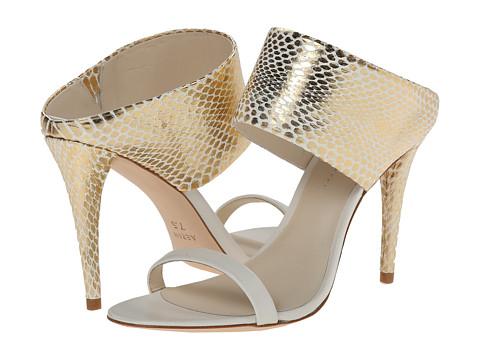 Aerin - Larissa (Gold/Ivory/White Washed Snake/Calf) High Heels