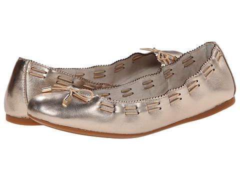 Aerin - Irene (Pale Gold Metallic Nappa) Women's Slip on Shoes