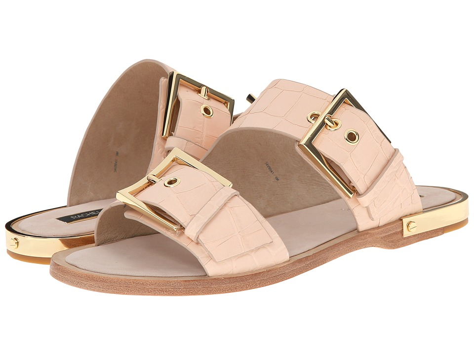 Rachel Zoe - Parla (Nude Nabuck Croc) Women's Dress Sandals