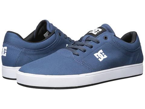 DC - Crisis TX (Blue/Blue/Black) Men's Skate Shoes