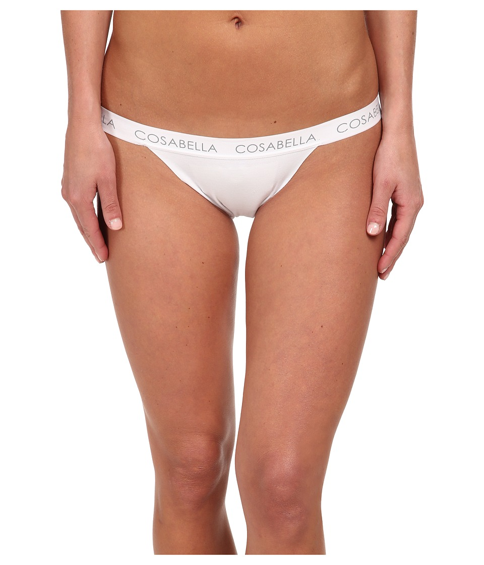 Cosabella - Edge Lowrider Thong (White) Women