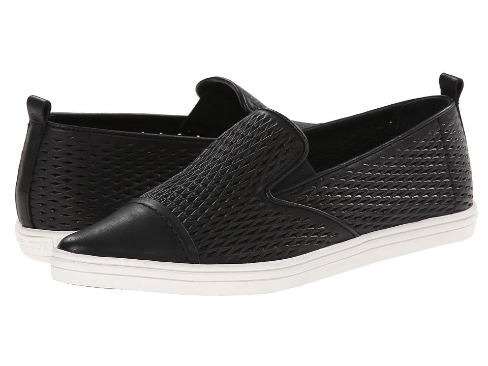 Rachel Zoe - Chandler (Black Baby Calf Perferated) Women's Dress Flat Shoes