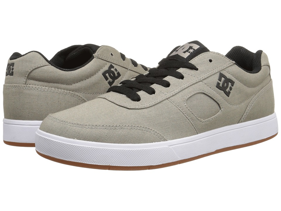 DC - Cue TX (Grey/Black/White) Men's Skate Shoes