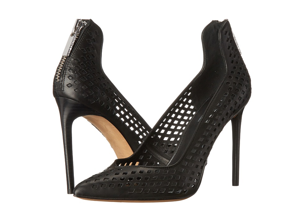 Rachel Zoe Callie (Black Baby Calf Perferated) High Heels