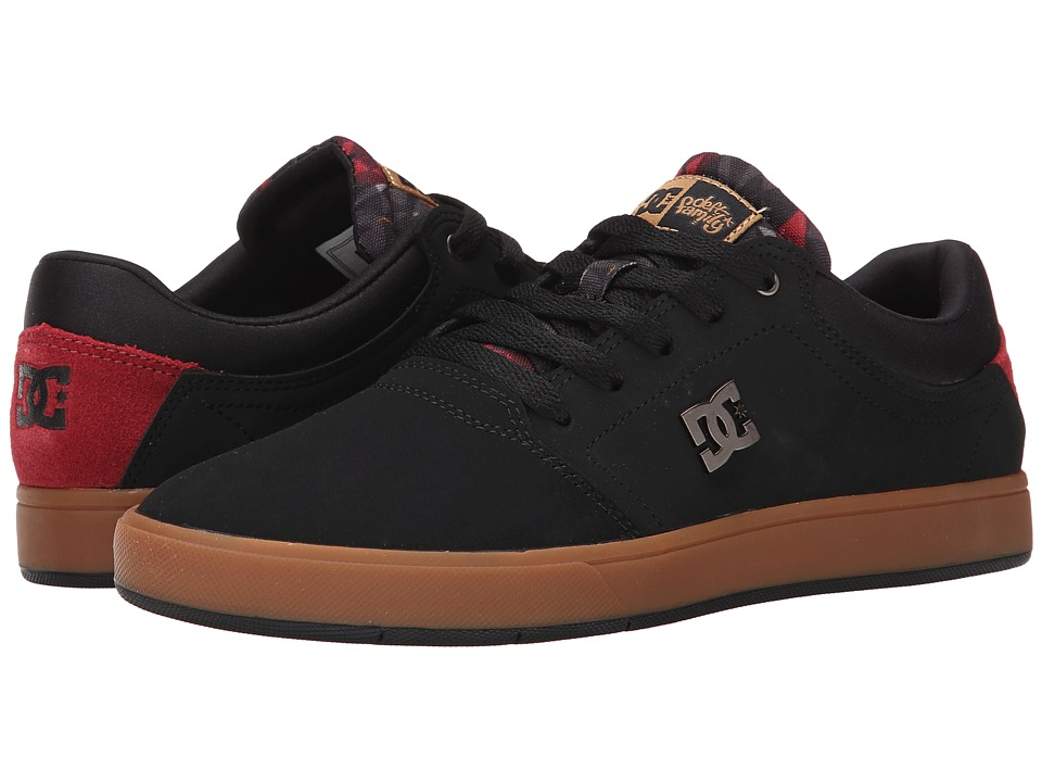 DC - Crisis Deft Family (Black/Gum) Men's Skate Shoes