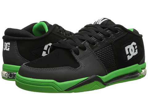 DC - Ryan Villopoto (Black/Grey/Green) Men's Skate Shoes