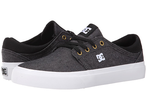 DC - Trase TX SE (Black/White/Gold) Skate Shoes