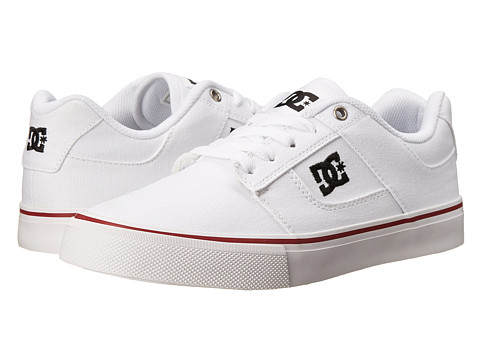 DC - Bridge TX (White/Royal/Red) Men's Skate Shoes