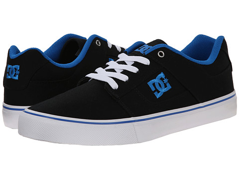 DC - Bridge TX (Black/Blue) Men's Skate Shoes