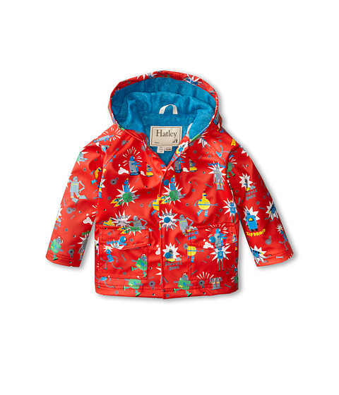 Hatley Kids - Robots Raincoat (Infant) (Orange) Boy