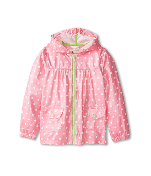 Hatley Kids - Pink Zinc Dots Lightweight Rain Jacket (Toddler/Little Kids/Big Kids) (Pink) Girl's Coat