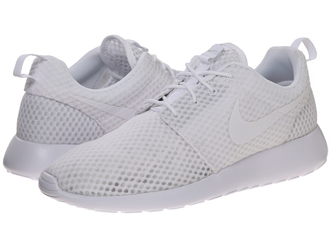 Nike - Roshe Run (White/White/Wolf Grey) Men's Classic Shoes