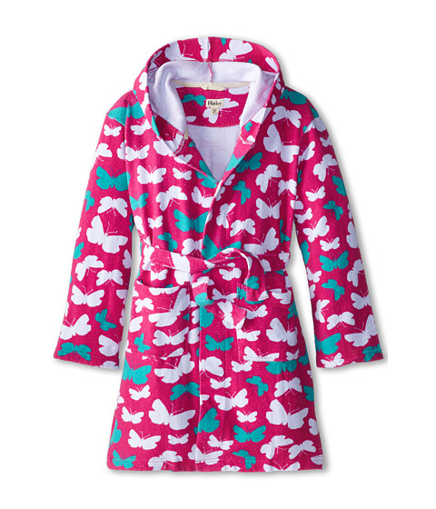 Hatley Kids - Graphic Butterflies Towel Robe (Toddler/Little Kids/Big Kids) (Pink) Girl
