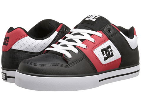 DC - Pure (White/Red/Black) Men's Skate Shoes