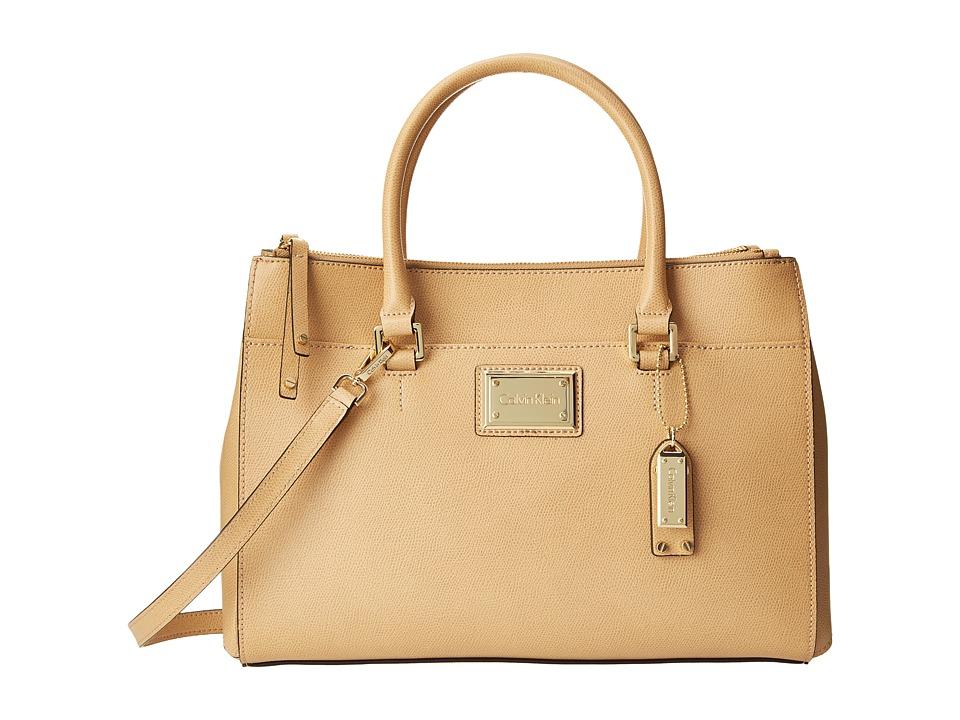 Calvin Klein - Mercury Leather Satchel (Nude) Satchel Handbags
