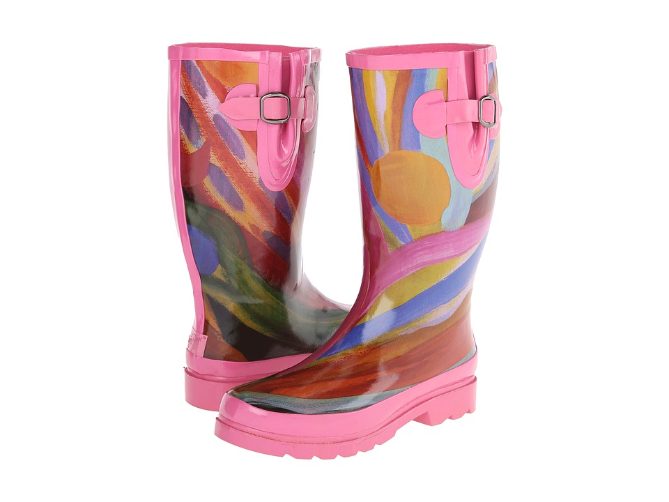 M&F Western - Rose (Pink/Watercolor) Women's Rain Boots