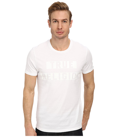 True Religion - Black On Black Tee (White/Grey) Men