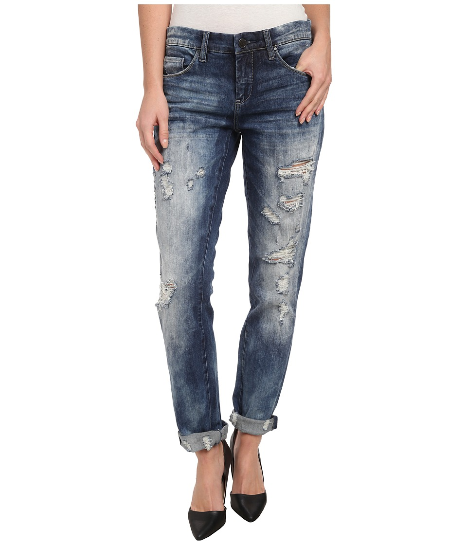 Blank NYC Distressed Denim Boyfriend Relaxed Straight Jean in Fit Of Rage (Fit of Rage) Women