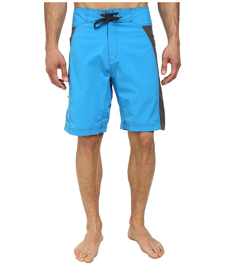 Mountain Khakis - Swiftwater Board Short (Blue Jay/Granite) Men's Shorts