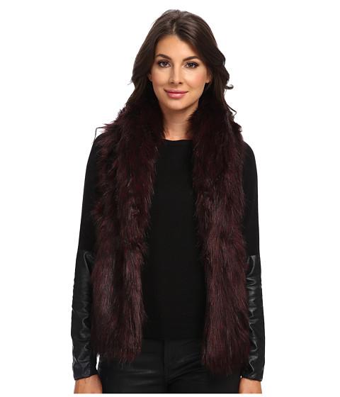 Sam Edelman - Fur Vest (Oxblood) Women