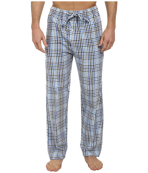 U.S. POLO ASSN. - Gingham Seersucker Pant (Strong Blue) Men's Pajama