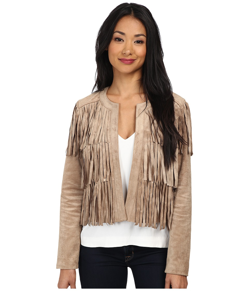 Sam Edelman - Faux Suede Fringe Jacket (Tan) Women
