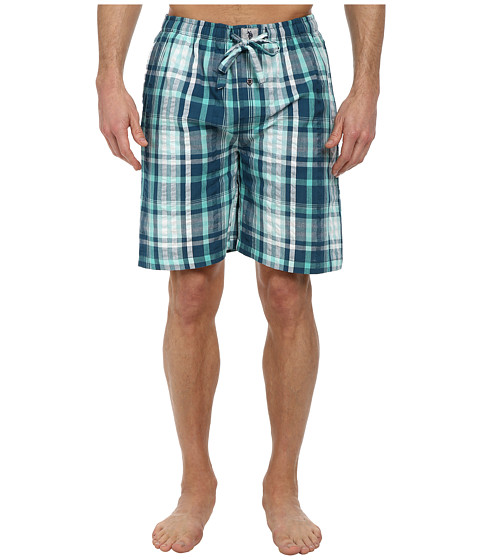 U.S. POLO ASSN. - Woven Seersucker Plaid Short (Blue Ashes) Men