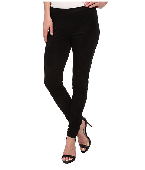 Sam Edelman - Faux Suede Ponte Pant (Black) Women's Casual Pants