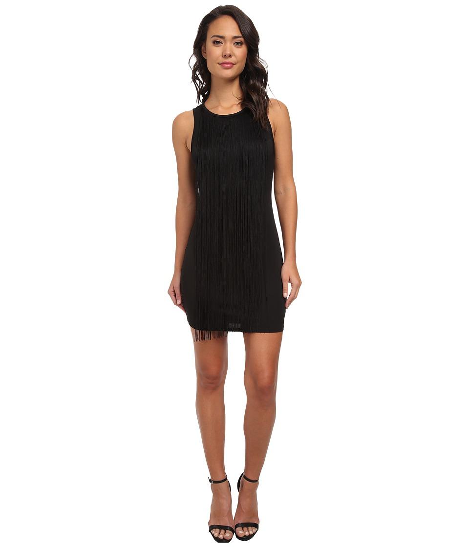Sam Edelman - Fringe Mini Dress (Black) Women