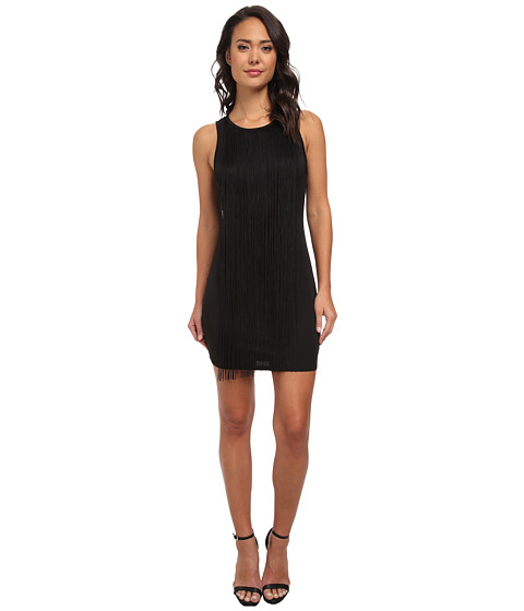 Sam Edelman - Fringe Mini Dress (Black) Women's Dress