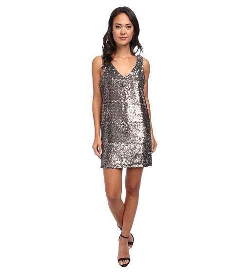 Sam Edelman - V-Neck Sequin Dress (Multi) Women