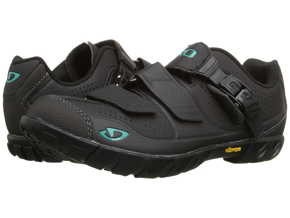 Giro - Terradura (Black/Dynasty Green) Women's Cycling Shoes