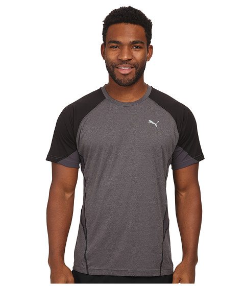 PUMA - PT At Cool Nov Tee (Iron Gray Heather/Nine Iron) Men