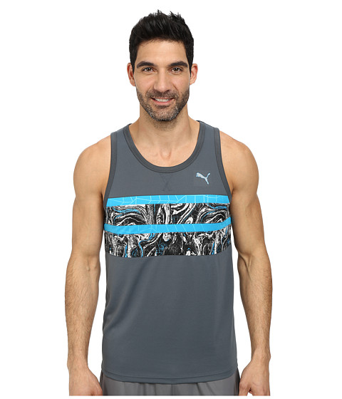 PUMA - Mixed Statement Tank (Turbulence/Hawaiian Blue Print) Men