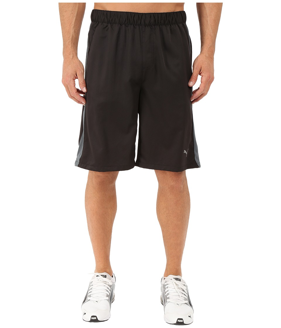 PUMA - Active Stretch 10 Short (Black/Turbulence) Men's Workout