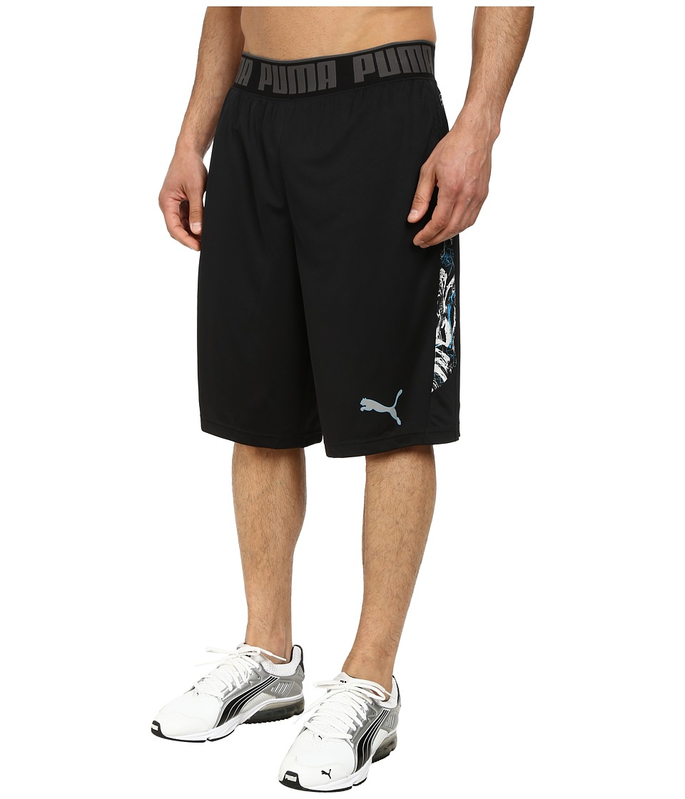 PUMA - 12 Mixed Statement Short (Black/Print) Men's Workout