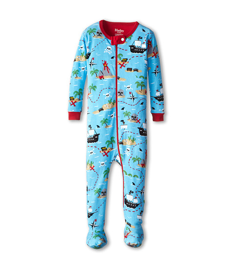 Hatley Kids - Treasure Island Footed Coverall (Infant) (Blue) Boy's Pajama Sets