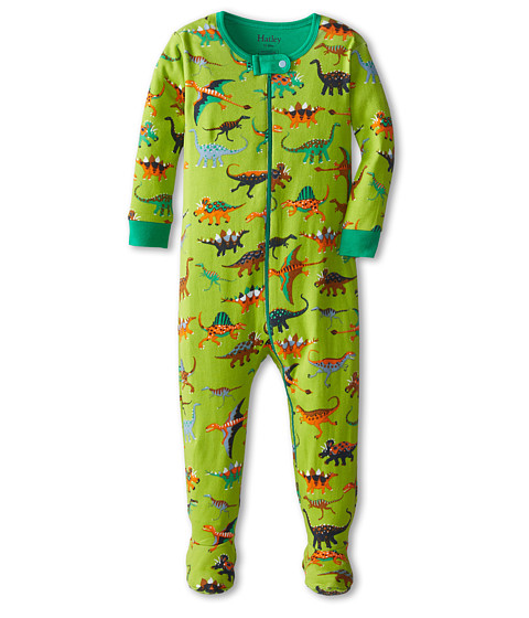 Hatley Kids - Dinos Footed Coverall (Infant) (Green) Boy's Jumpsuit & Rompers One Piece