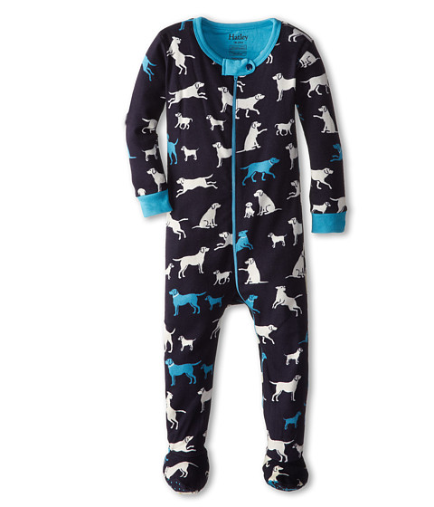 Hatley Kids - Classic Labs Footed Coverall (Infant) (Blue) Boy's Jumpsuit & Rompers One Piece