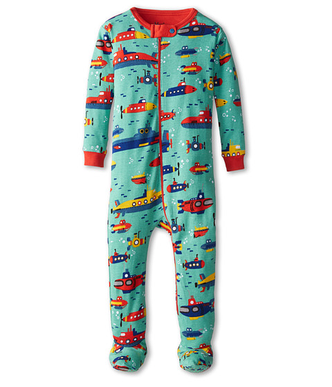 Hatley Kids - Submarines Footed Coverall (Infant) (Aqua) Boy