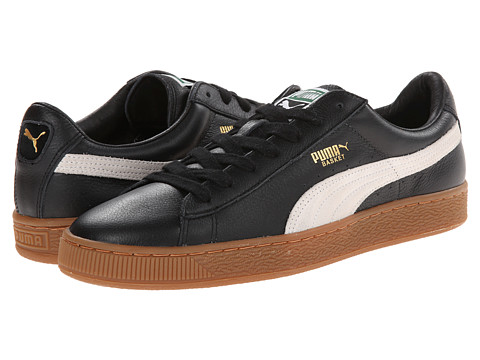 PUMA - Basket Classic (Black/White/Gum) Athletic Shoes