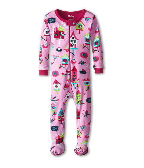 Hatley Kids - Bird Houses Footed Coverall (Infant) (Pink) Girl