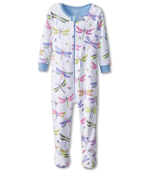 Hatley Kids - Dragonflies Footed Coverall (Infant) (White) Girl