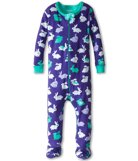 Hatley Kids - Fluffy Bunnies Footed Coverall (Infant) (Purple) Girl