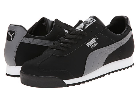 PUMA - Roma Blocks (Black/Steel Grey/White) Athletic Shoes