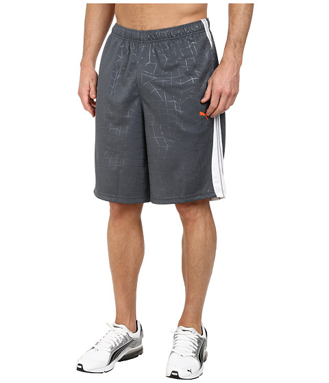 PUMA - 10 Formstripe Pattern Short (Turbulence/White) Men