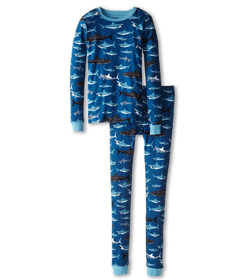 Hatley Kids - Lots of Sharks PJ Set (Toddler/Little Kids/Big Kids) (Blue) Boy's Pajama Sets